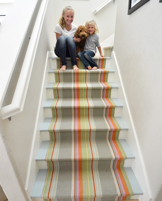 happy staircase striped runner