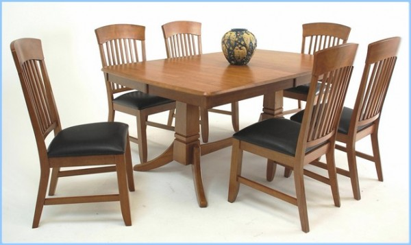 : Home Trestle Dining Table And Chair Set