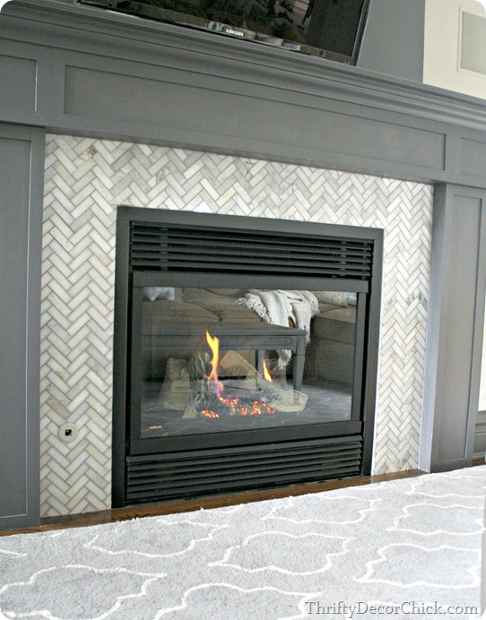 herringbone marble tile