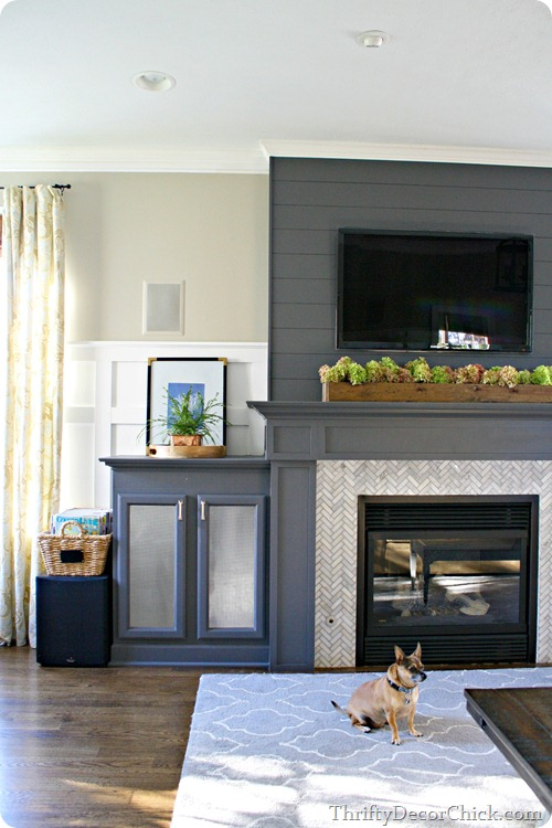 gray fireplace