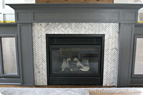 installing tile on fireplace surround