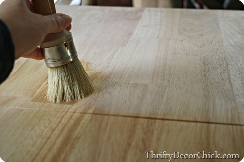 waxing unfinished wood