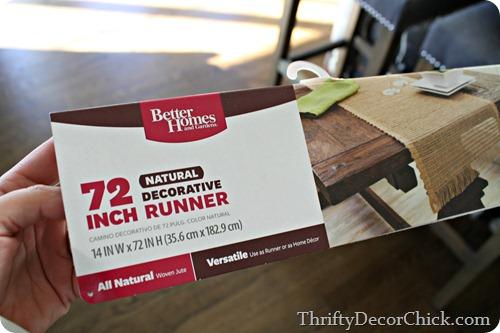 better homes and gardens natural runner