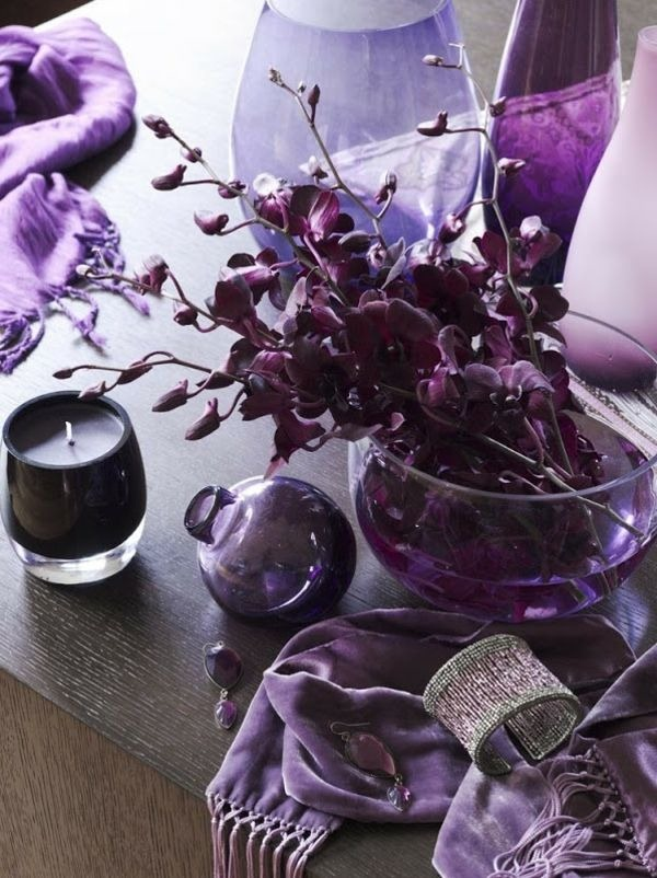 interior design ideas living room purple accents