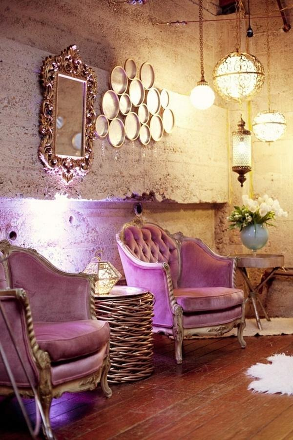 interior design ideas Throw light purple