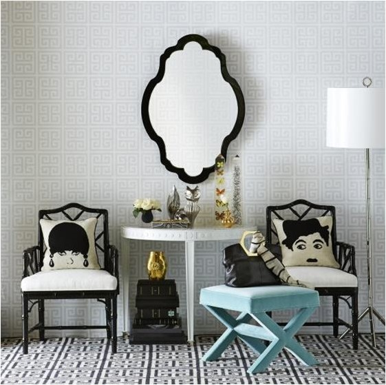 jonathan adler greek key wallpaper