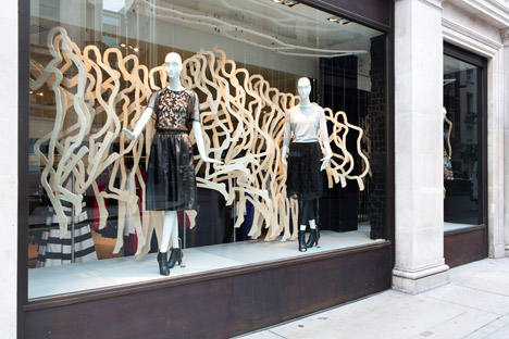 Karen Millen's installation for RIBA's Regent Street Windows Project