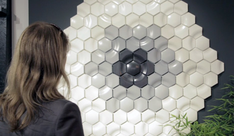 Kaza Concrete installation by Sam Frith for Domus tiles