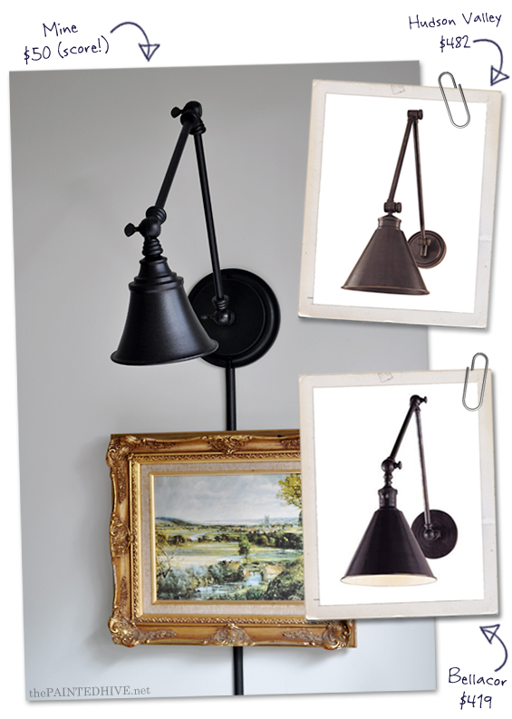 Swing Arm Wall Light Knock Off | The Painted Hive