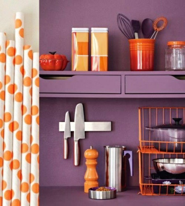 make viotett wall color kitchen