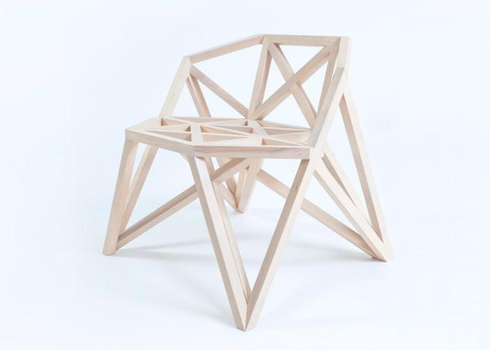 Meubles bridge les assises g om triques par le studio for Architecture geometrique