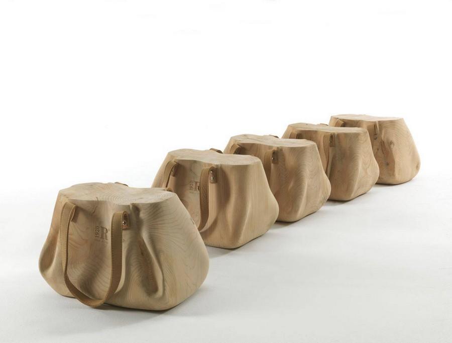 modern chair 11 Perfectly Balancing A Fresh Concept With Versatility: Mondana Bag Stool