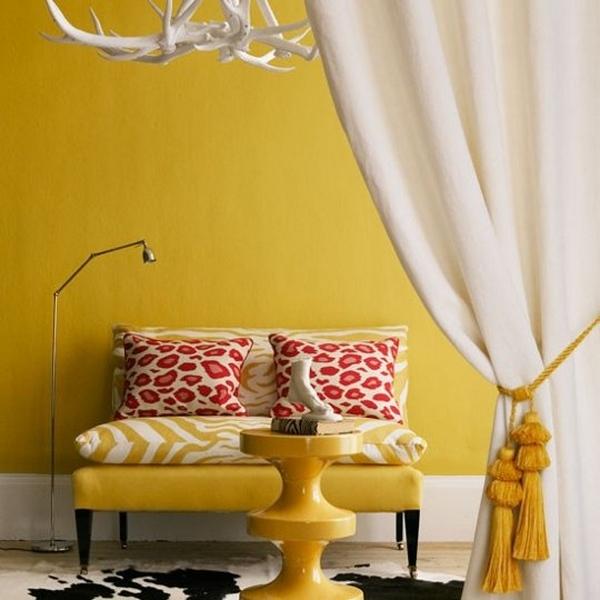 Mustard Wall Design Ideas