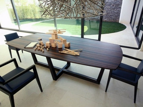 Natural wood furniture solid wood table made ​​modern stylish cross legs