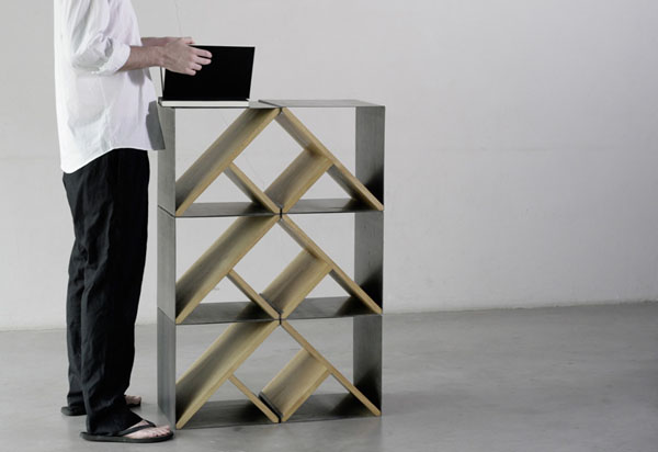When Steel and Oak Meet in Design: Noon Studio Steel Stool