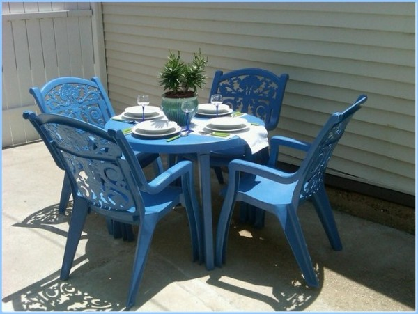 : Patio Plastic Chairs Blue