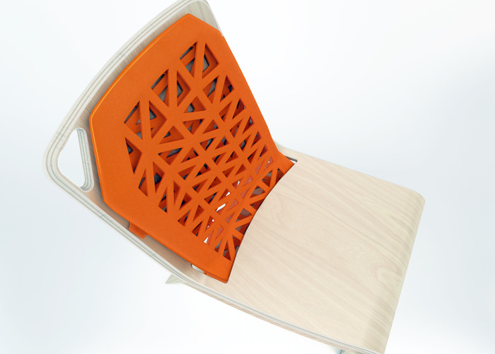 chaise design plastique orange - Projet étudiant : Chaise Flexy par Léo Marzolf ISD Valenciennes