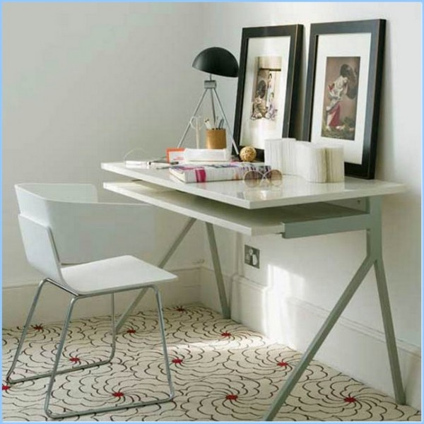 : Small Modern Home Office Desk Design Ideas