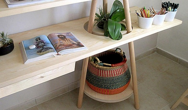 Storage baskets Veta vera grass African braiding desk shelving system