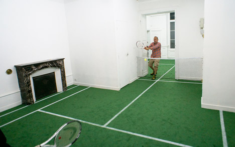 Tennis court installation Benedetto Bufalino