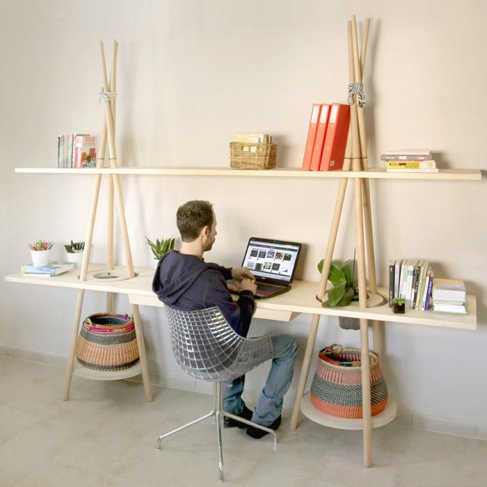 TIPI l'étagère bureau par Assaf Israel