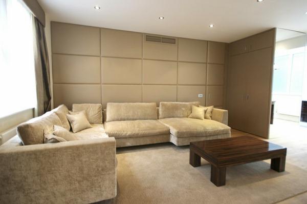 Upholstered Sofa Rectangular and large