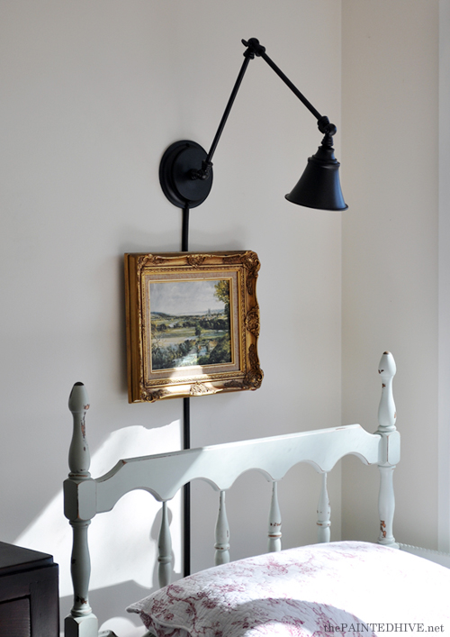 Desk Lamp to Wall Light - Budget Friendly| The Painted Hive