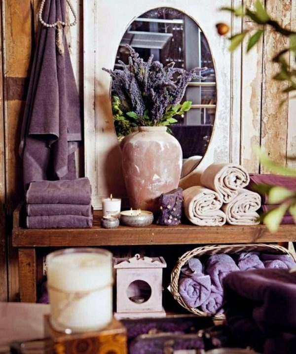 violet accent living room interior
