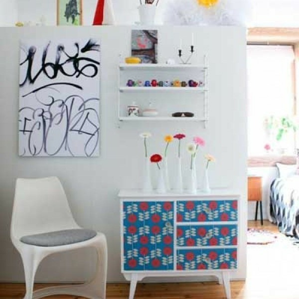 wall decoration wallpaper pattern with fresh furniture