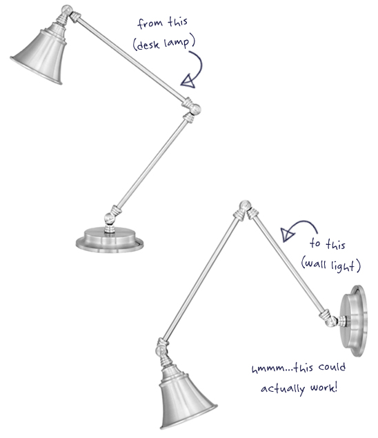 Converting a Desk Lamp to a Wall Sconce