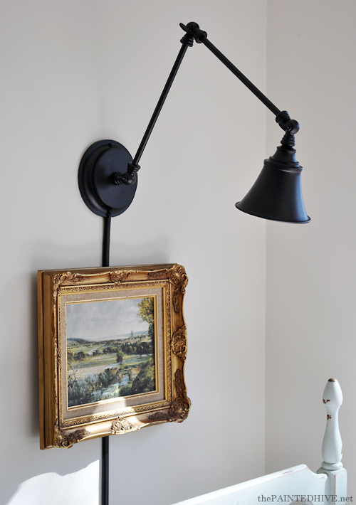 Wall Mounting a Desk Lamp | The Painted Hive