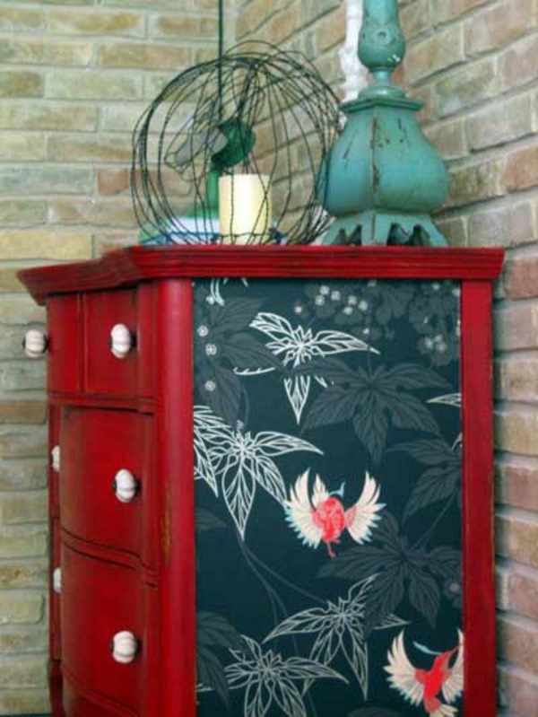 wall wallpaper embellish furniture ideas