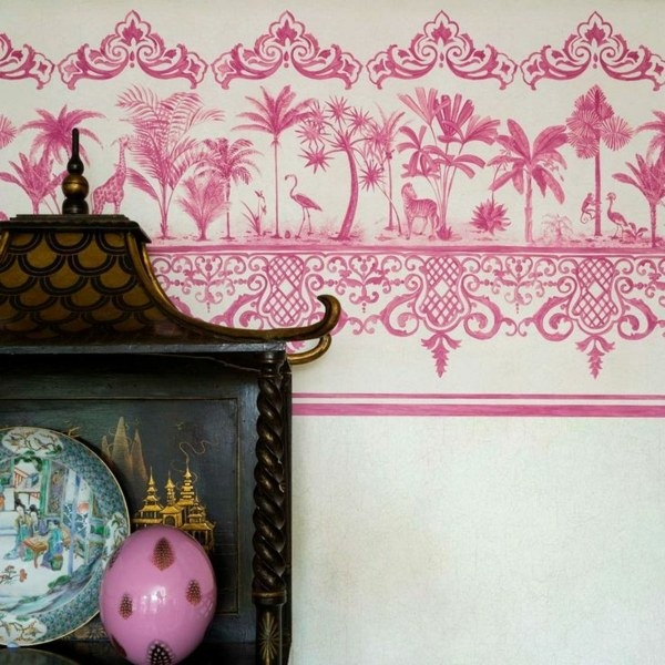 wall wallpaper pattern and image edge theme pink motive