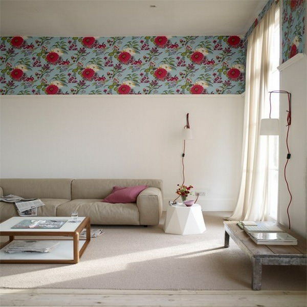 wall wallpaper pattern and image edge theme sofas living room