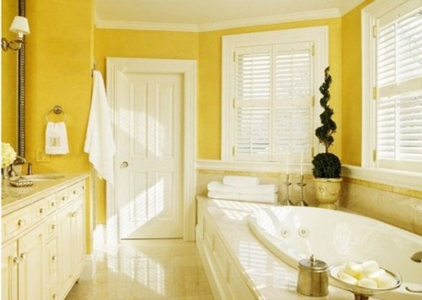 yellow bathroom colors
