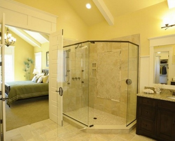 yellow bathroom design