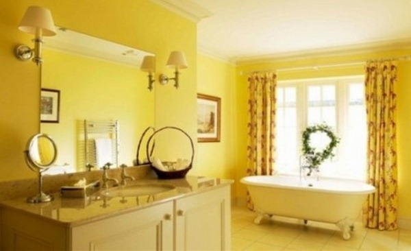 yellow bathroom designs pictures